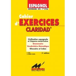 Claridad - Excercices 3ème édition