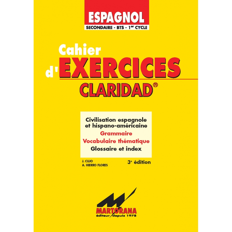 Claridad - Exercices - Méthode d'apprentissage Espagnol