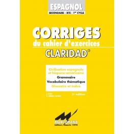 Claridad - Corriges - Méthode d'apprentissage Espagnol